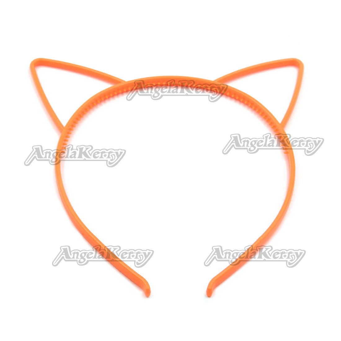 Amazon.com : AngelaKerry 50pcs Orange Cat Ear Plastic Headbands Hairbands Bow for Girls Fashion Party DIY (Orange, Pack of 50pcs) : Beauty