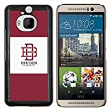 # Cellphone Hard Case PC Protective Cover Shell Case forHTC One M9+ M9 Plus # university brand maroon logo student # Gift Phone Case Housing #