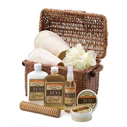 Relaxing Eco Spa Gift Basket (Toiletry Gift Baskets)
