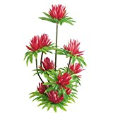 Jardin Plastic Simulated Water Lily Lotus Plant Aquarium Ornament, 10-Inch, Red
