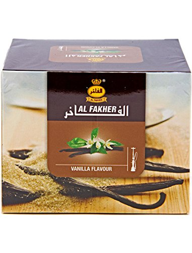 Al Fakher 250g Vanilla Flavor Hookahs By S & L With Free S and L Male and Female Mouth Piece Disposable Tips