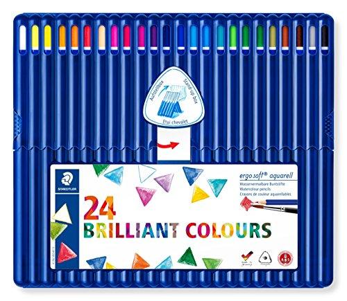Blue Watercolor Pencil - Staedtler Ergosoft Watercolor Pencils (156SB24)