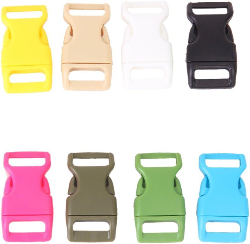"""10pcs 5//8/"""" Boucles plastique De Cartable Ceinture Bracelet Paracorde Sac"""