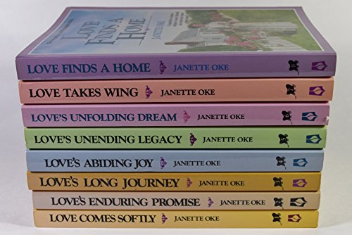 Love Comes Softly Series Complete Set By Janette Oke Volumes 1-8. Titles Include: Love Comes Softly; Love's Enduring Promise; Love's Long Journey; Love's Abiding Joy; Love's Unending Legacy; Love's Unfolding Dream; Love Takes Wing; Love Finds a Home