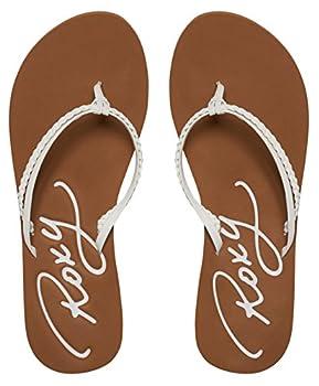 Roxy Women's Cabo Flip Flop, White, 8 M Us 7