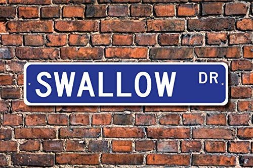 Swallow Swallow Gift Swallow Sign Swallow Decor Swallow Lover Tree Swallow barn Swallow Bird Custom Street Sign Metal Sign 4x18 inch