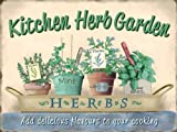 Tin Sign KITCHEN HERB GARDEN Shed Mum Gift Retro Vintage Metal Tin Sign 15x20 by Star55