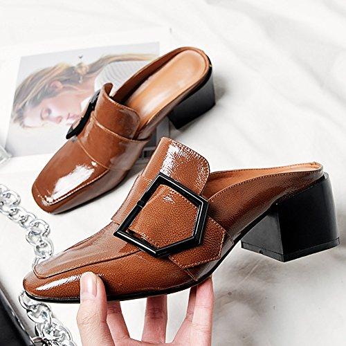 C Evening Keilabsatz Flops Sommer 35 Aushöhlen Wanderschuhe Flip XUE Leder Mode Sandalen Atmungsaktive Damenschuhe B Größe Komfort Farbe Career Hausschuhe Party Schuhe Dress wBWvZCq