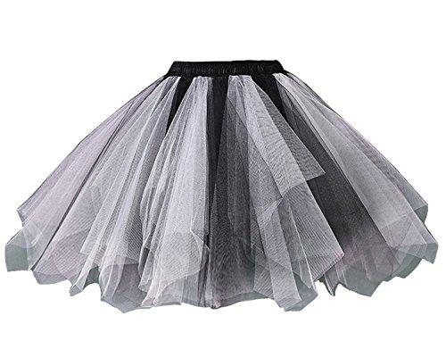 Dguisement Mini Tulle Tutu Anniversaire Facent Noir Blanco Jupon Robe Femme Jupe Jupe Courte Soires Princesse Sous HwYYxqO