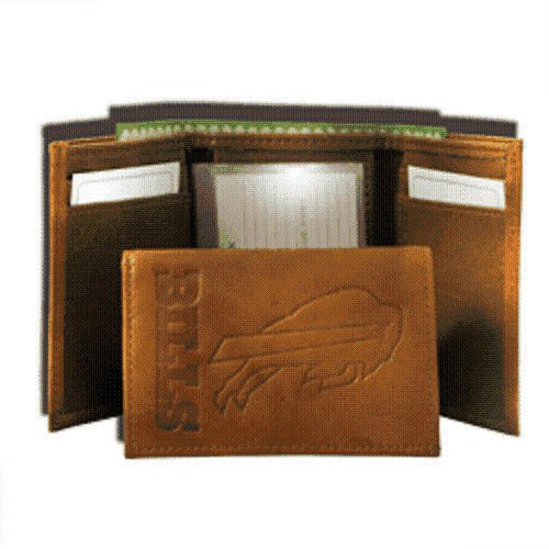 NFL Buffalo Bills Leather Trifold Wallet with Man Made - Bills Tri Rico Fold Wallet