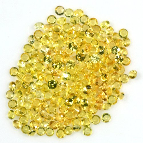 Starjewelryco 5.16 Cts Natural Top Golden Yellow Sapphire Diamond Cut Round Lot (Golden Yellow Sapphire)
