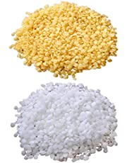 TooGet Pure Yellow Beeswax Pellets 7OZ White Beeswax Pellets 7OZ - 100% Natural Beewax Beads, Cosmetic Grade, Premium Quality - 14 0Z