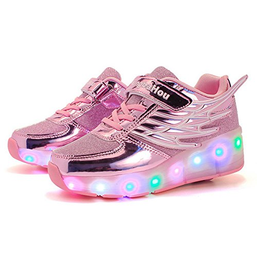 Kids for with for Up Roller Light Adult Boys Skate Sneakers LED Girls Shoes Wheels Shoes HotDingding f6Pqytt