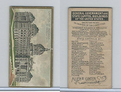 - N14 Allen & Ginter, General Gov. & State Capitols, 1889, Indiana, Indianapolis