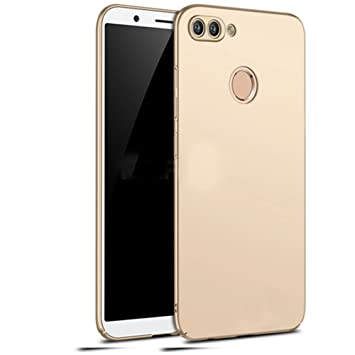 Huawei P smart Funda, Elegante Carcasa Dura Ultra Delgada Por GOGME, Cubierta De Teléfono Limpio Minimalista Anti-ralladuras Para Huawei P smart. oro
