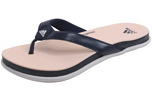 7a7945552144da Adidas Women s Cloudfoam Ultra Y Thong Sandal Collegiate Navy Ice  Purple Haze Coral Size