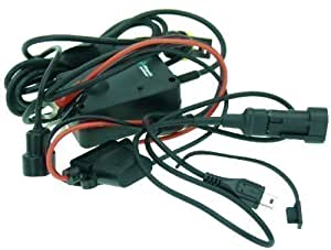 Cable de carga recto Mini USB directo a la batería de motocicleta compatible con TomTom ONE, GO, XL y START