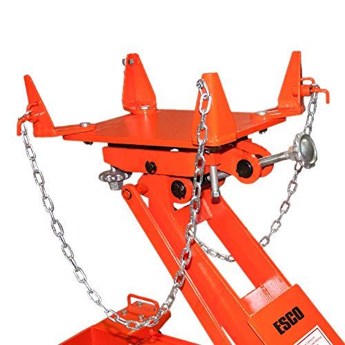 Esco 10812 2.2 Ton Heavy Duty Transmission Jack, 4,400 lb Capacity by Esco (Image #1)