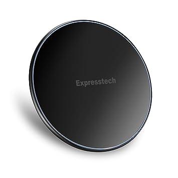 Expresstech @ Cargador Inalámbrico Rápido Qi cargador por inducción universal QI Wireless de Movil con QI Disponibles como iPhone X iPhone 8 Plus ...
