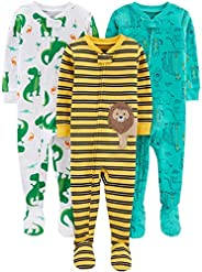 Simple Joys by Carter's Baby and Toddler Boys' 3-Pack Snug Fit Footed Cotton