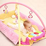Game Blanket Toy Music Pad Pedal Piano Fitness Rack 0515A (Color : Pink)