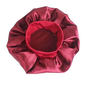 Ogquaton Mujeres Gruesas Ducha Sombreros de satén Baño Gorras de ...