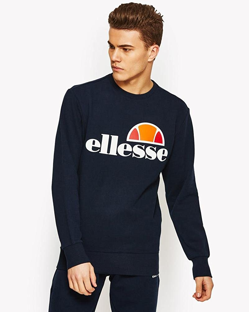 b0a44cec51 Ellesse Men's Succiso Graphic Sweatshirt, Grey at Amazon Men's ...