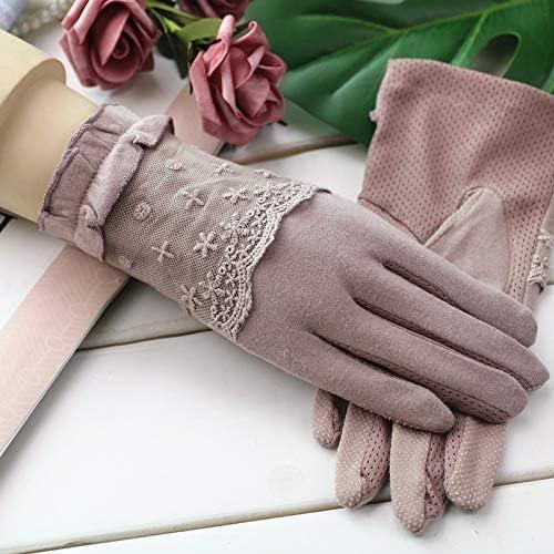 手袋 日常 実用 紫外線日焼け止め手袋滑り止め弾性タッチスクリーン運転日よけ日焼け止め手袋 (Color : Purple, Size : One size)