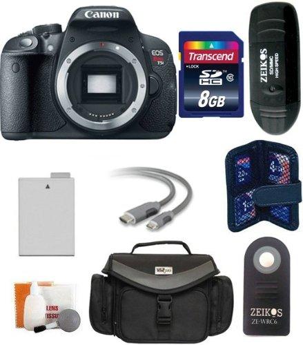 Canon EOS Rebel T5i 18.0MP CMOS cámara digital con visualización táctil y de 3pulgadas Full HD Modo Película Kit de...