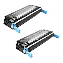 Amsahr Q5950A HP Q5950A, LaserJet 4700 Remanufactured Replacement Toner Cartridge with Two Black Cartridges