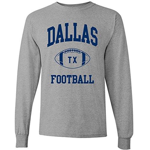 - Dallas Classic Football Arch - American Football Team Long Sleeve T Shirt - 3X-Large - Sport Grey