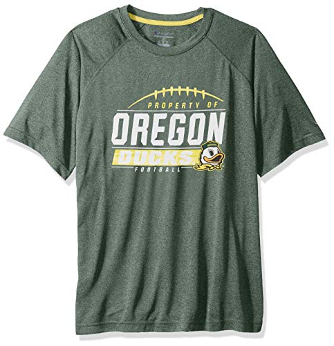 NCAA Oregon Ducks Mens NCAA Men's Short Sleeve Football Season Jersey Teechampion NCAA Men's Short Sleeve Football Season Jersey Tee, Dark Green, X-Large
