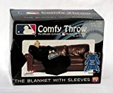 "MLB Colorado Rockies Comfy Throw, Officially MLB Licensed Blanket with Sleeves ""Smoke"" Design"