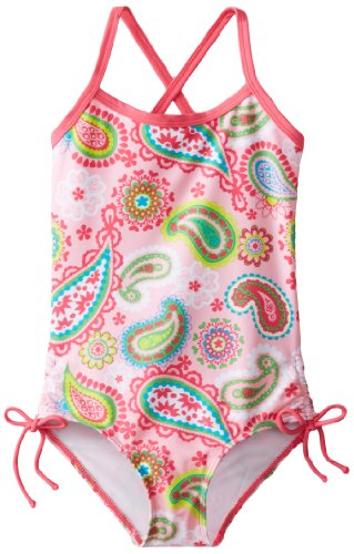 Kanu Surf Little Girls' Secret Garden One Piece Swimsuit, Pink, 4