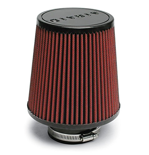 Airaid 701-493 Universal Clamp-On Air Filter: Round Tapered; 3 in (76 mm) Flange ID; 6 in (152 mm) Height; 6 in (152 mm) Base; 4.625 in (117 mm) Top