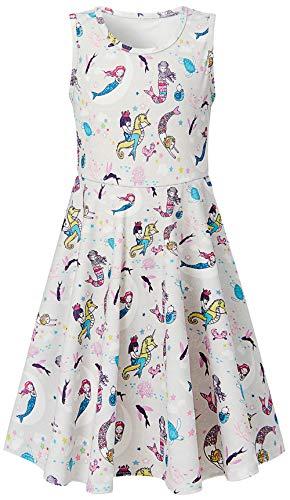 6-7 Years Girl's Dress Mermaid Sundresses Colorful Carton