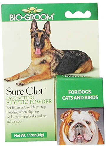 Bio-Groom Sure Clot Styptic Powder Fast Acting For Dogs Cats and Birds 14 gram