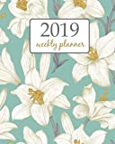 2019 Weekly Planner: Calendar Schedule Organizer Appointment Journal Notebook To do list and Action day 8 x 10 inch White Blue sky Lilly vintage. (Weekly & Monthly Planner 2019)
