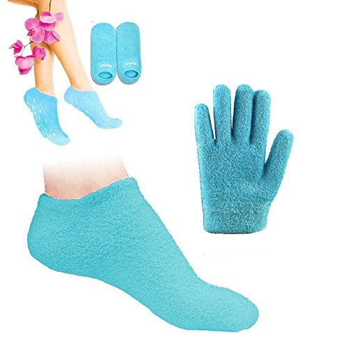 on Gloves and Socks Moisturize Cracked Skin Care Gel SPA (gloves&socks, blue) (Silicone Skin Glove)