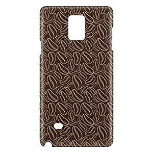 Loud Universe Samsung Galaxy Note 4 3D Wrap Around Coffee Beans Print Cover - Brown