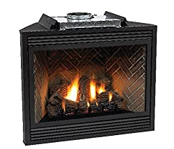 """Empire Comfort Systems Premium 36"""" Direct-Vent NG Millivolt Control Fireplace with Blower"""