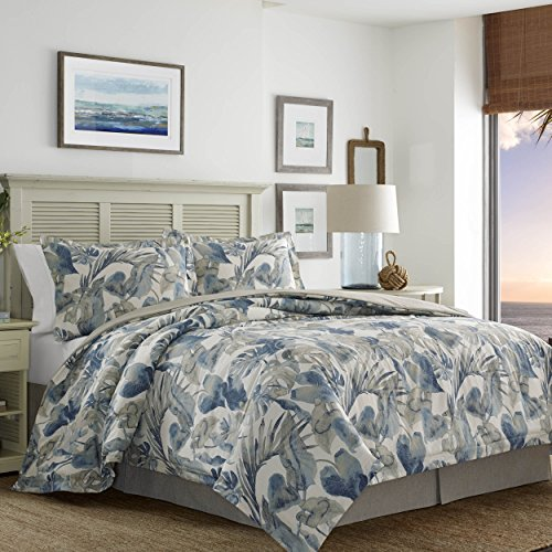 Tommy Bahama 221192 Raw Coast Comforter Set,Blue,Full/Queen