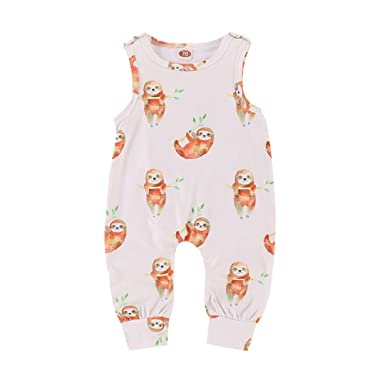 9d2057a2c Amazon.com  Kehen Boy Girl Summer Clothes Cotton Pajamas Sleeveless ...