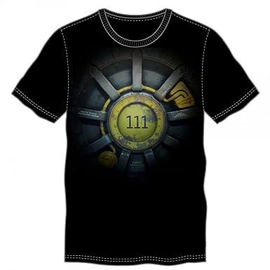 dad0c3a0cf Amazon.com  Fallout Vault 111 Men s Black T-Shirt  Clothing