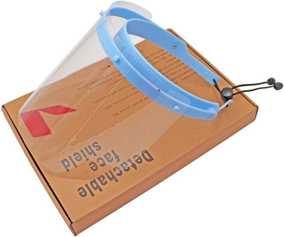 M/áscara Dental M/áscara de protecci/ón para pulverizaci/ón MOCN M/áscara de protecci/ón Facial Prevenci/ón de Salpicaduras antiniebla con 10 pel/ículas Protectoras de pl/ástico reemplazables