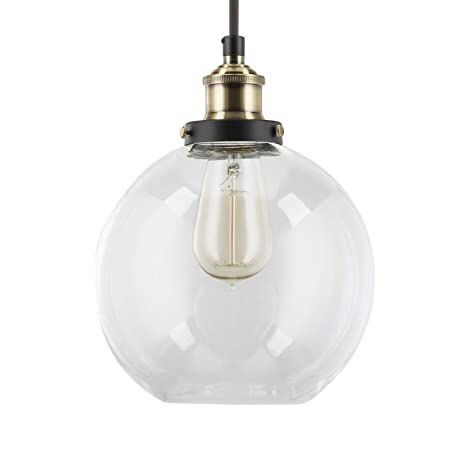 Primo Industrial Kitchen Pendant Light - Antique Brass Hanging ...