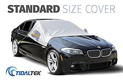 TidalTek Car Windshield Snow and Ice Cover – New 2018 Arrival. Ultra-Durable, Premium Weatherproof Design that Protects Windshield, Wipers, and Mirrors – Standard Size