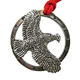 Creative Pewter Designs, Pewter Bobwhite Quail Flying Holiday Ornament, Antiqued Finish, B033OR