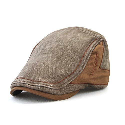 ea90fc74ea6db M MOACC Men Newsboy Hats Cotton Cap Beret Buckle Adjustable Cabbie Driving  Hunting Hat