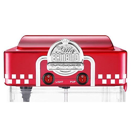 Great Northern Popcorn Company 6073 GNP Little Bambino Red GNP Little Bambino 2-1/2 Ounce Retro Style Popcorn Popper Machine by Great Northern Popcorn Company (Image #6)